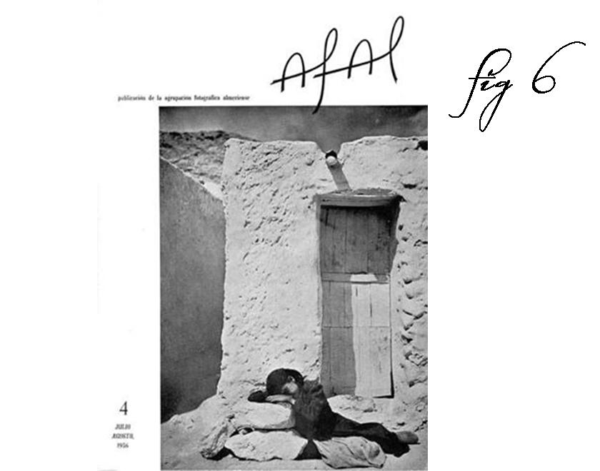 Frontespizio della rivista Afal n°4, luglio-agosto 1956: opera di Jesús de Perceval.