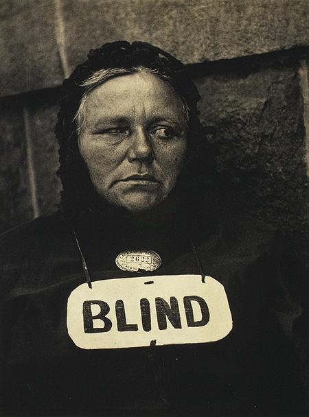 4) Paul Strand, Blind, 1916
