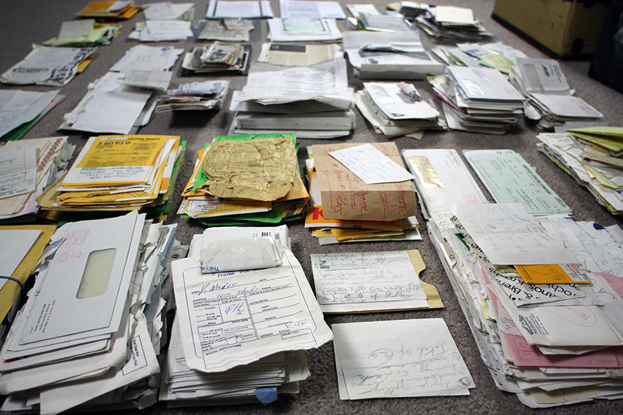 Lettere e ricevute intestate a Vivian Maier