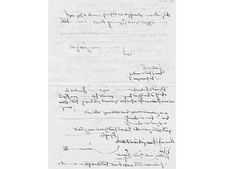Lettera di Georgia O'Keeffe, Nov. 12, 1916.