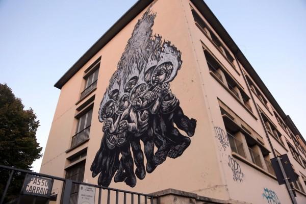 Bastardilla, Liceo Righi, Bologna, 2014