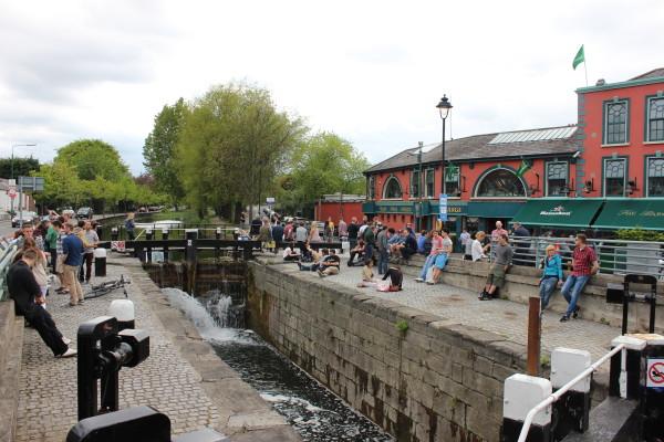Scorcio di Dublino-Ballsbridge