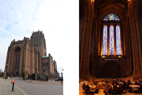 La Cattedrale Anglicana: esterno ed interno (installazione di Tracy Emin)