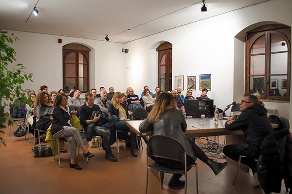 Incontro al Palazzo del Podestà con Pasquale Bove, Rimini, 2016