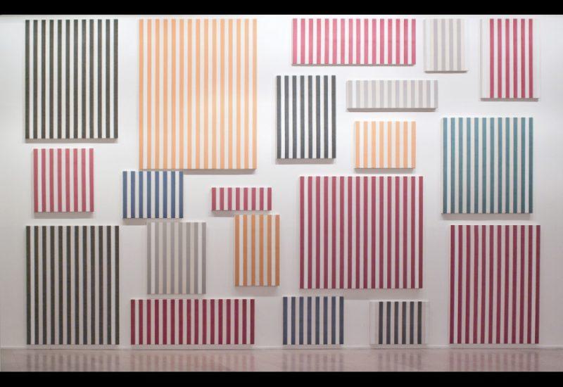 Daniel Buren, Murs de peintures, 1966-1977, Musée d'Art moderne de la Ville de Paris
