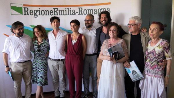 Presentazione della nuova edizione del SIFest OFF, tra i presenti: Tomas Maggioli, l' Assessore alla cultura di Savignano sul Rubicone Maura Pazzaglia e Mario Beltrambini, giugno 2016