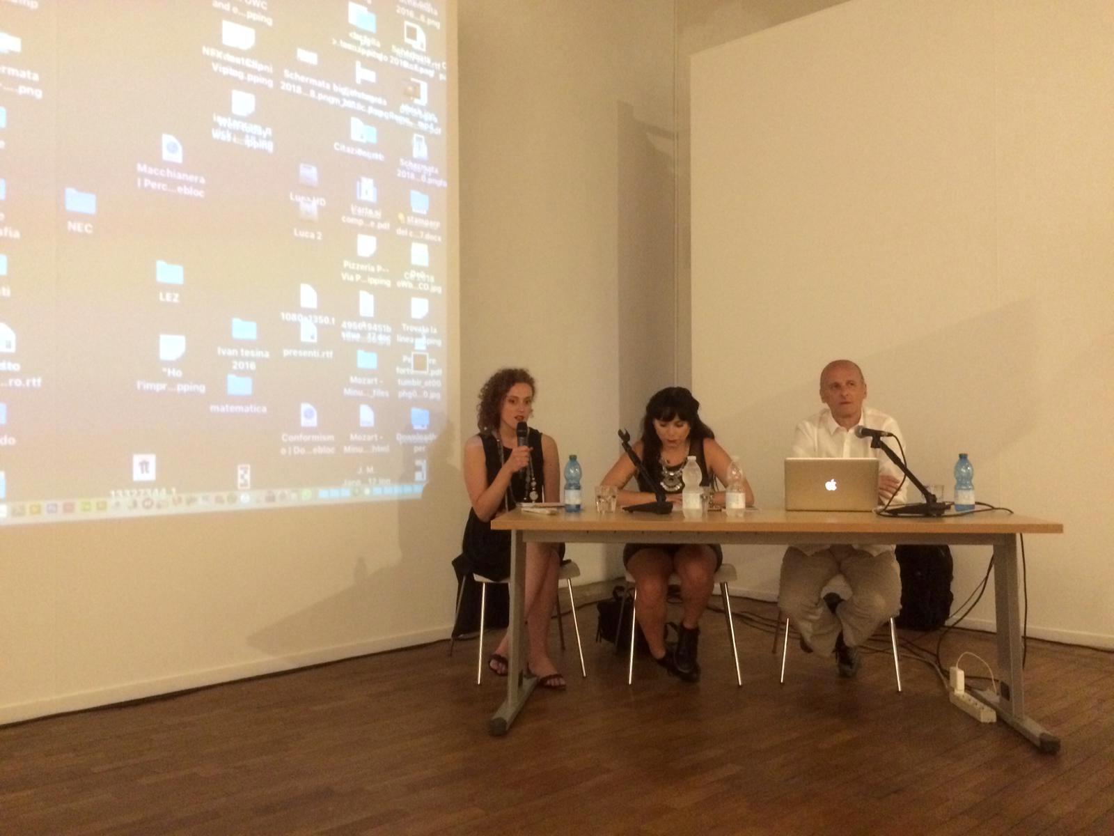 Luca Andreoni, Chiara Pirra e la sottoscritta durante l'incontro