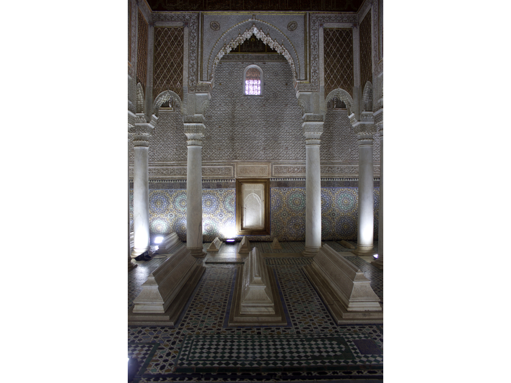 Sala delle dodici colonne, Tombe dei Sa'aditi, Marrakech