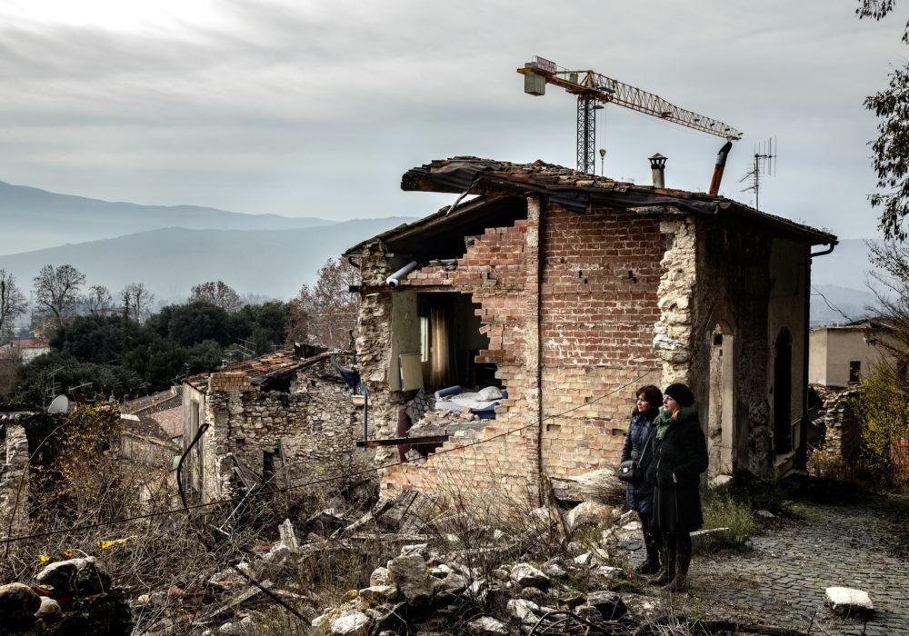 Paganica, frazione de L'Aquila (dicembre 2018). © Giuseppe Carotenuto