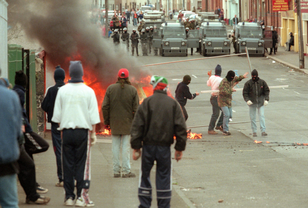 Crispin Rodwell Rioting in north Belfast