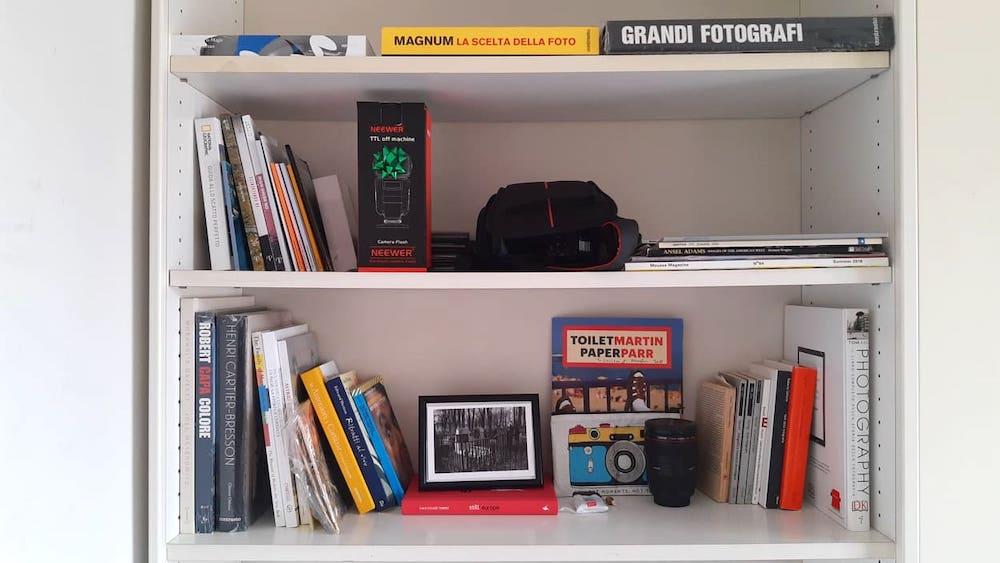 la mia libreria di fotografia